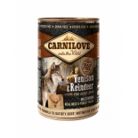 Carnilove dog can venison reindeer 400g