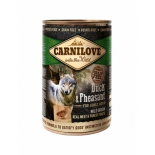 Carnilove dog can Duck phaesant 400g